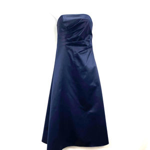 JS Boutique Satin Strapless Dress Navy - 2